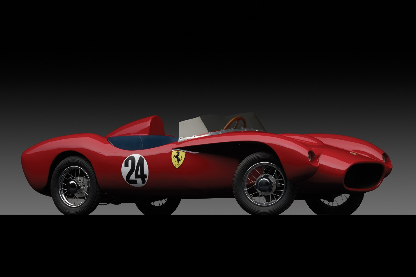 In November 2013, RM Auctions (now RM-Sotheby's) sold what was then the world's most expensive children's car at its annual December sale in New York. Produced by Modena Ferrarina Italia, the ½ scale Ferrari 250 Testa Rossa replica sold for $126,500. The electric-powered Testa Rossa replica has a handmade steel bodywork and was distributed in-period by the American Ferrari distributor, Luigi Chinetti Motors. It is believed that twenty-five Testa Rossa replicas were built, with fewer than five remaining worldwide. This car was previously owned by renowned Ferrari collector Kirk F. White, who had it restored to the same standards as his concours-winning full-sized Ferraris.
