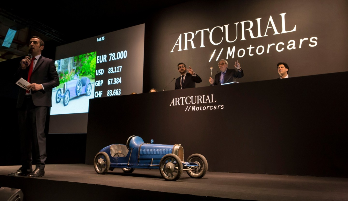 "This Bugatti ""Baby"" sold in Paris on February 10, 2017 for $99,000"