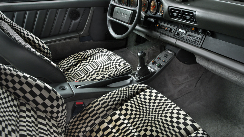 The interior of the Brumos Collection's Porsche 959 prototype.