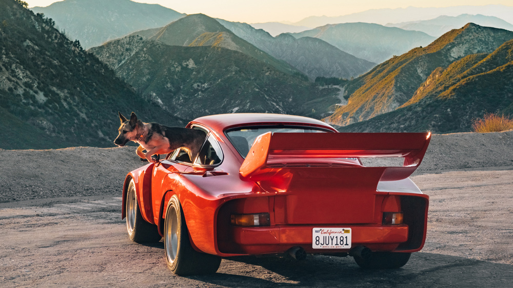 An image from photography series on urban racing in Los Angeles by Magnus Walker and photographer Daniel Malikyar for the Santo Gallery.