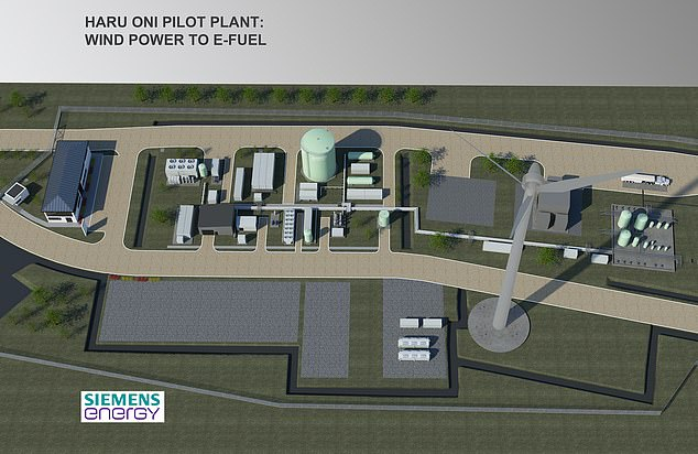 Porsche has been working in partnership with Siemens Energy and energy firms to develop and create a plant in Chile (pictured) that would yield the 'world's first integrated, commercial, industrial-scale plant for making synthetic climate-neutral fuels'