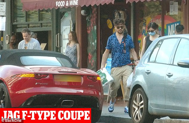 Nicked:Dominic then starting to use a sleek red Jaguar F-Type coupe p 300 as his new run around, which was also taken (pictured in August)