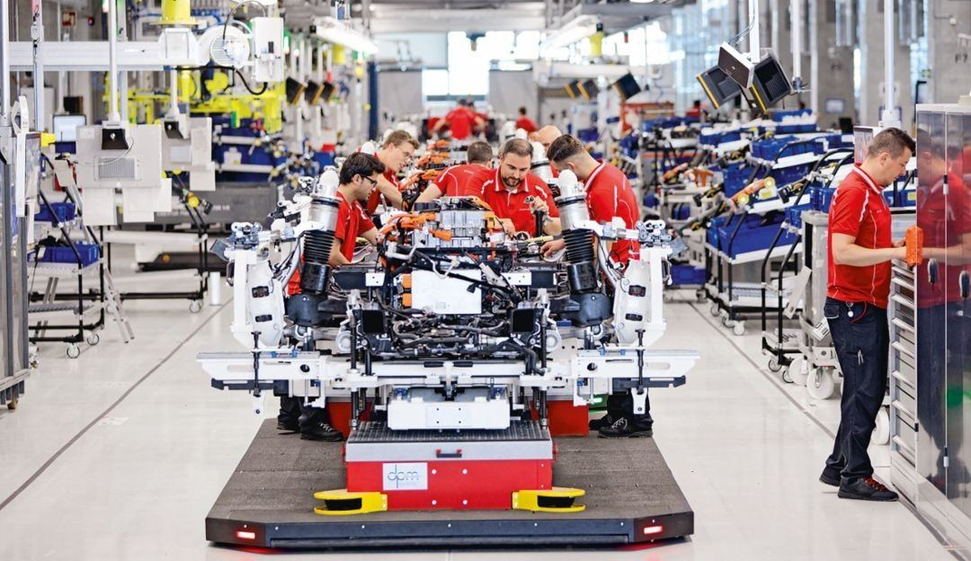 Porsche Taycan production photo in Germany