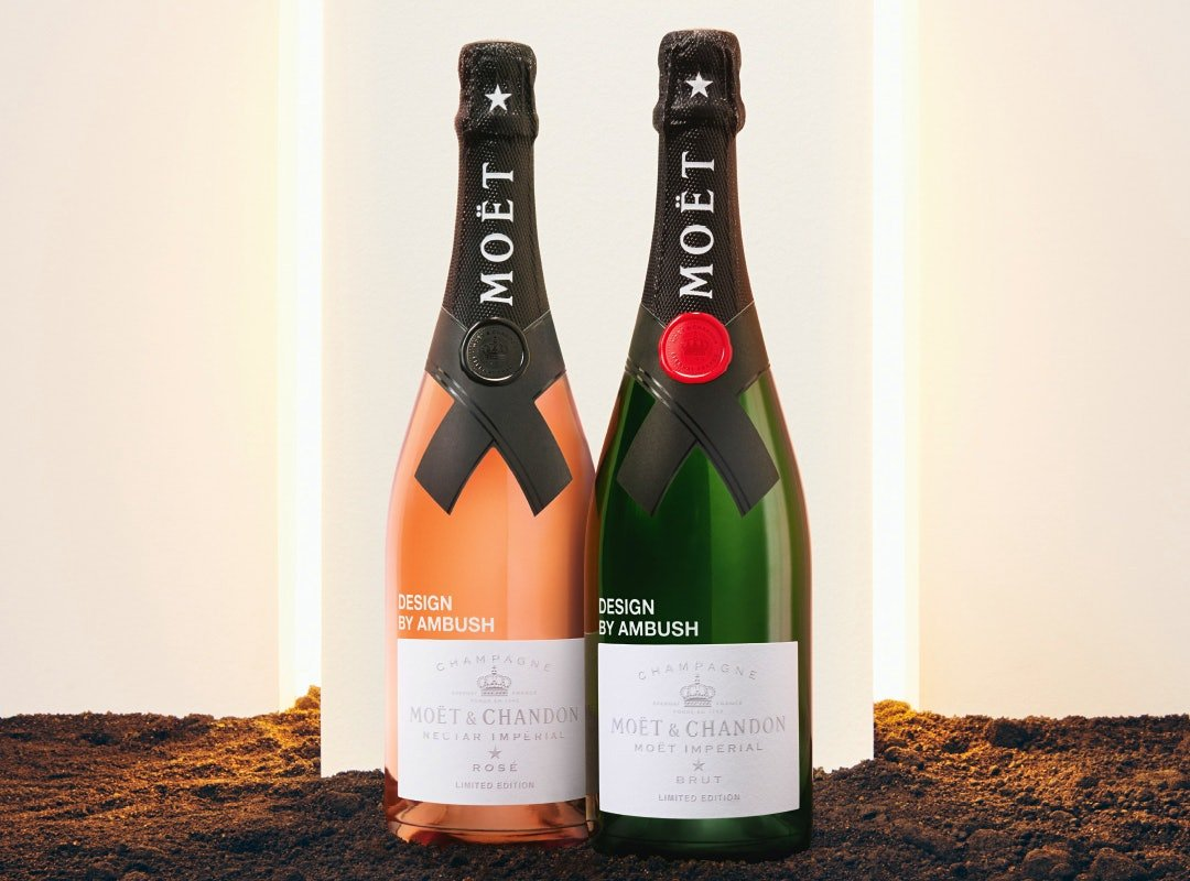 Moët & Chandon special-edition Ambush Champagne bottles designed by Yoon Ahn
