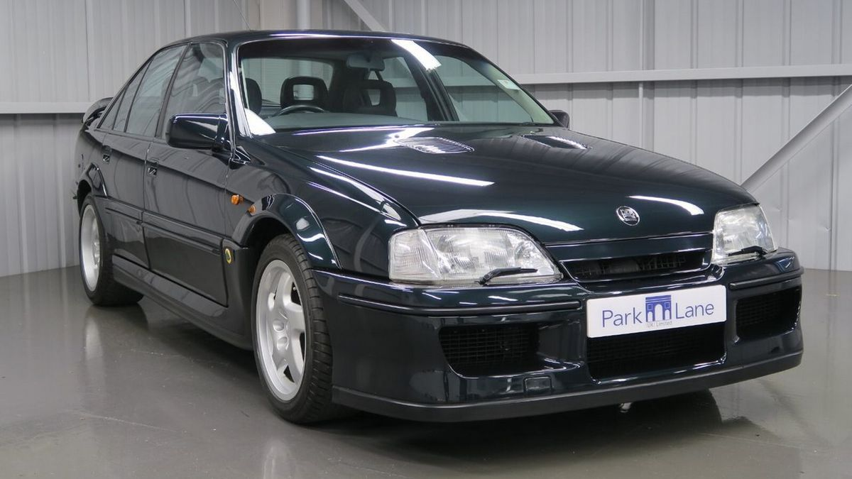 This Opel Lotus Carlton is a collaboration with the British automaker Lotus, Opel's fastest-going sedan in history, and the second-fastest production sedan worldwide at its launch time.