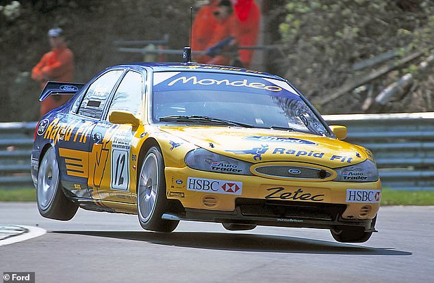 The Mondeo took the British Touring Car Championship title in 2000 in the hands of Alain Menu. Pictured: Menu's teammateAnthony Reid, who finished as runner-up in the driver's standings in the 2000 BTCC season