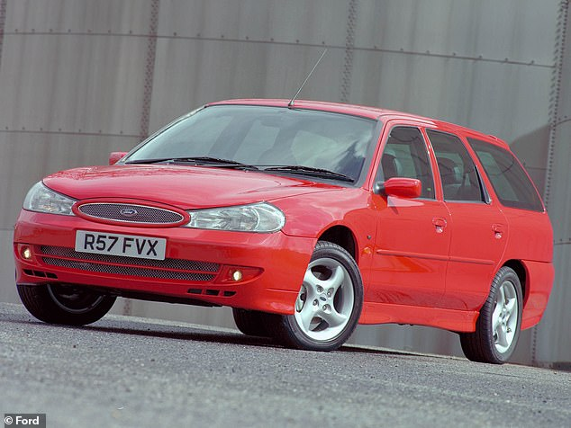 The first-generation Mondeo was facelifted in 1997 with rounder looks. It was also sold as an estate versions (pictured)