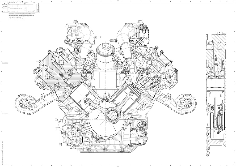 Maserati Nettuno Engine technical diagram