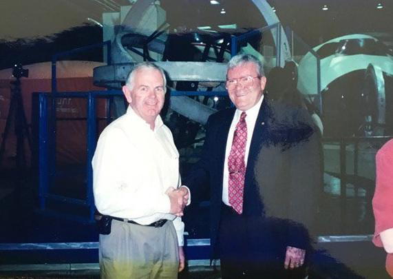 Ian Lynas with Fred Haise.