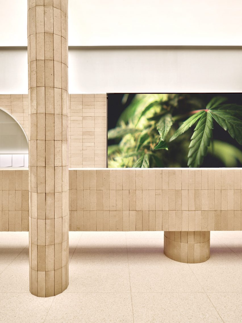 Toronto cannabis shop decorated with terracotta tiles
