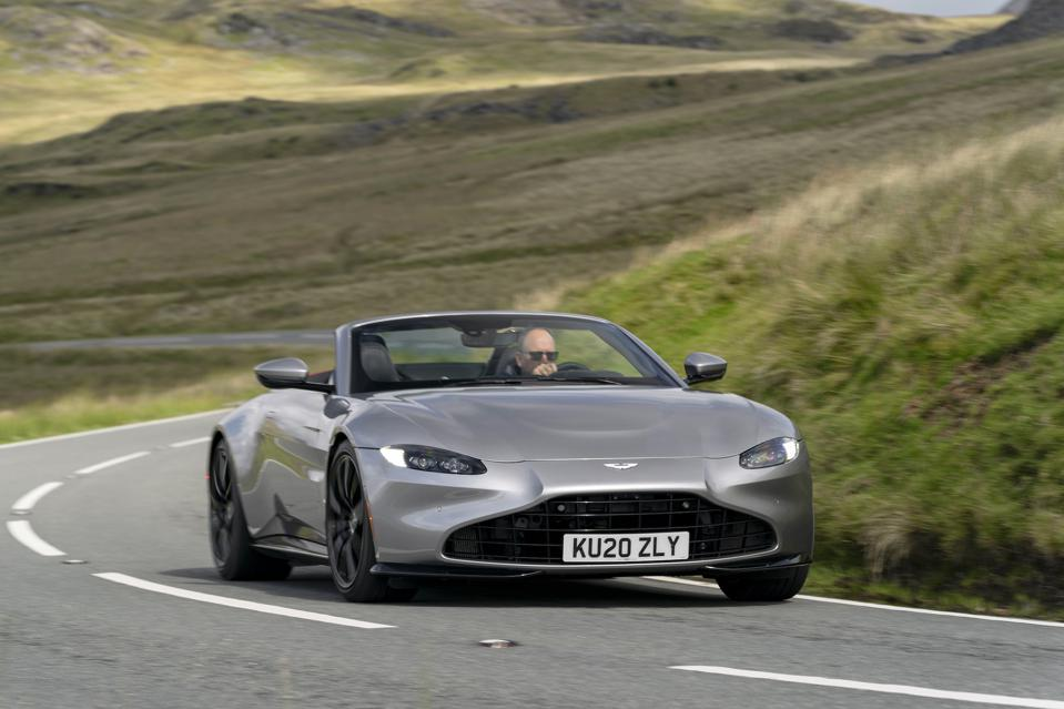 The 2020 Aston Martin Vantage Roadster in Spirit Silver
