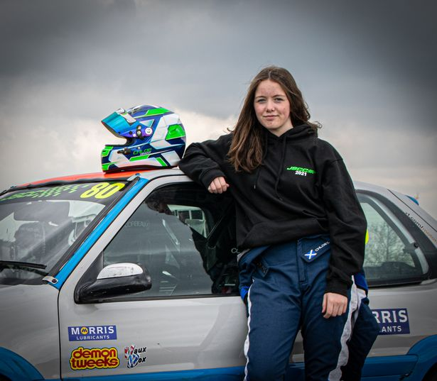 Perth 15-year-old Chloe Grant has competed in the Junior Saloon Car Championship for the first time