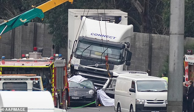 Pusey had been pulled over for speeding at 149km/h in his Porsche on the Eastern Freeway in Melbourne when a truck driver crashed into the emergency lane on April 22 last year