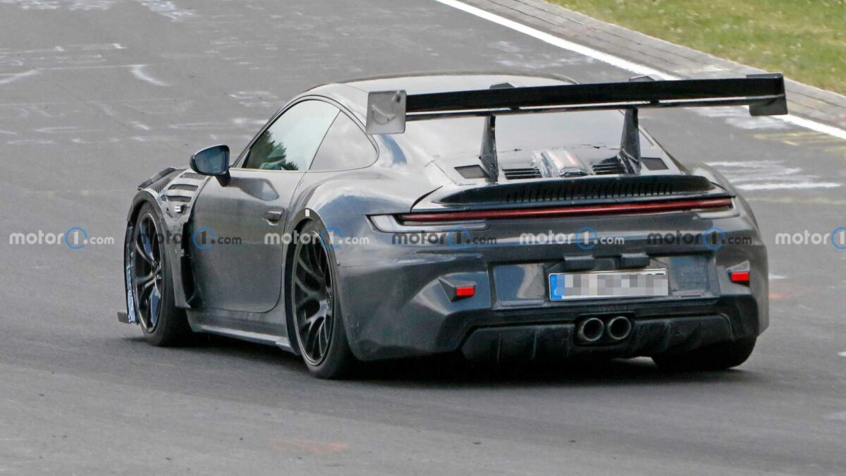 New Porsche 911 GT3 RS Spied At The Nurburgring