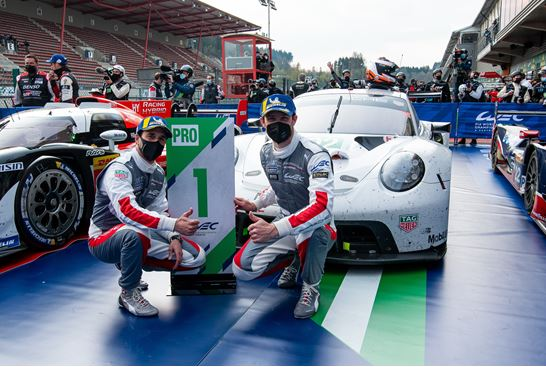 Porsche No. 92 takes second consecutive win at Spa