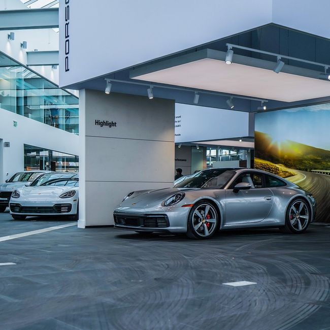 The newest dealership in the Pfaff Automotive Partners portfolio, Porsche Centre Markham is the first car dealership in Canada fully integrated with a regional mall. It connects directly to CF Markville's underground and above-ground parking.