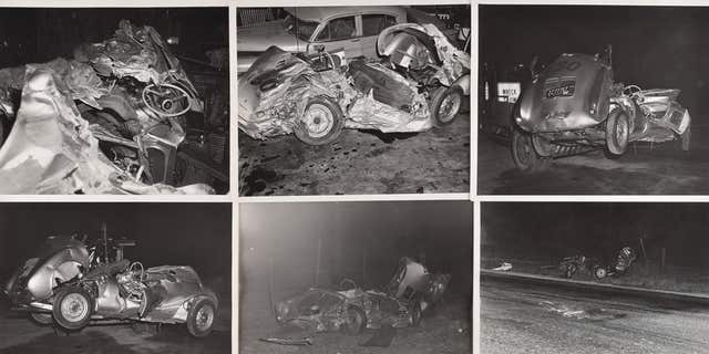 Photos from the scene of James Dean's fatal crash.