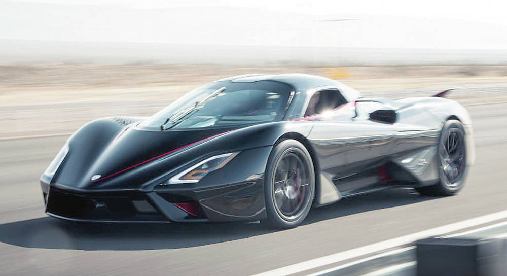 Earlier this year, over a 3.7-kilometre straightaway, a midengine Tuatara supercar achieved two-way average speed of 452 km/h.