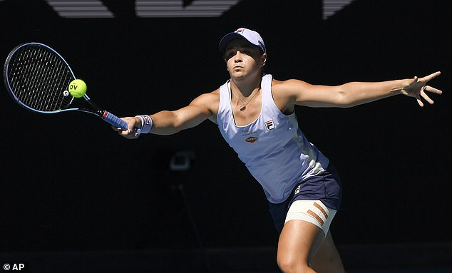 Barty is seen at the quarterfinal of this year's Australian Open