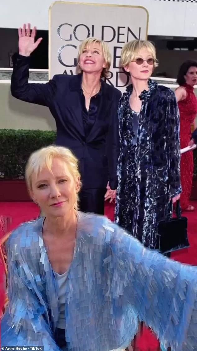 Not a fan! The actress, 51, brought up a throwback image of the pair posing at the 1998 Golden Globes ceremony, which saw the screen star sport a velvet duster coat