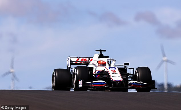 The Haas driver was holding up race leader Sergio Perez at the Portuguese Grand Prix