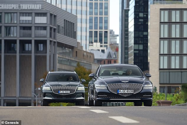 Orders for the new luxury G80 saloon (right) and GV80 SUV (left) open in June