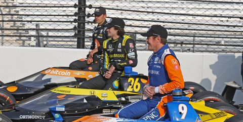 from left to right ntt indy car series drivers rinus veekay news photo 1622382055