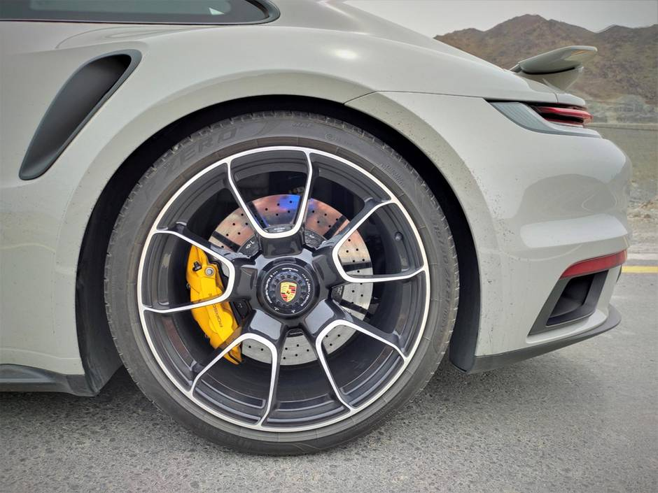 The 10-spoke alloys have a 20-inch diameter at the front and 21at the rear.Photo: Gautam Sharma