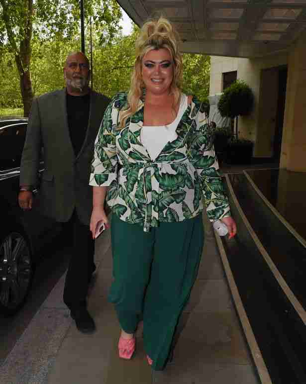 Gemma Collins has enjoyed a Champagne-fuelled dinner with her brother after buying him a Porsche