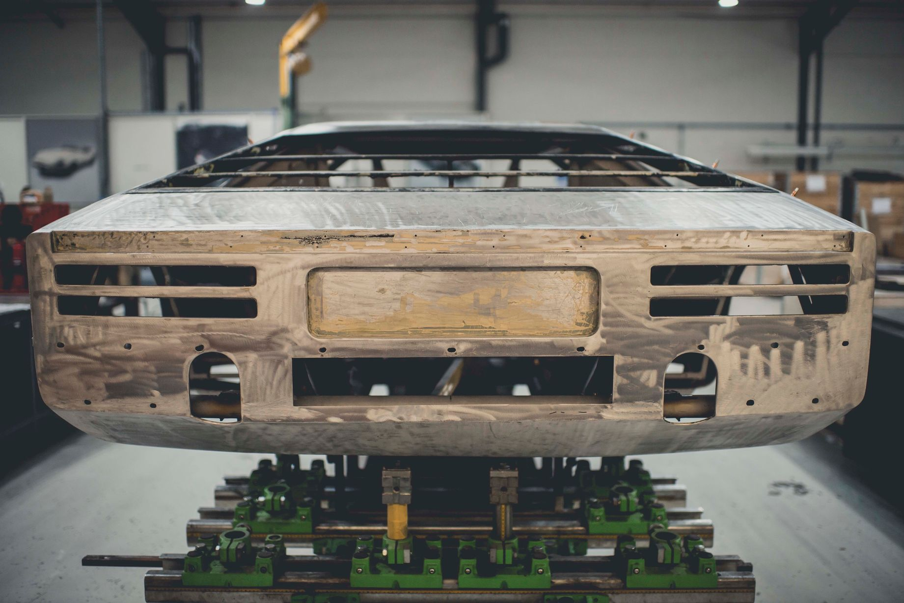 The Aston Martin Bulldog underwent a number of modifications early in its life in relation to the exhaust's outlet positions