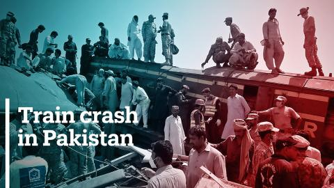 Dozens killed as passenger trains collide in Sindh province