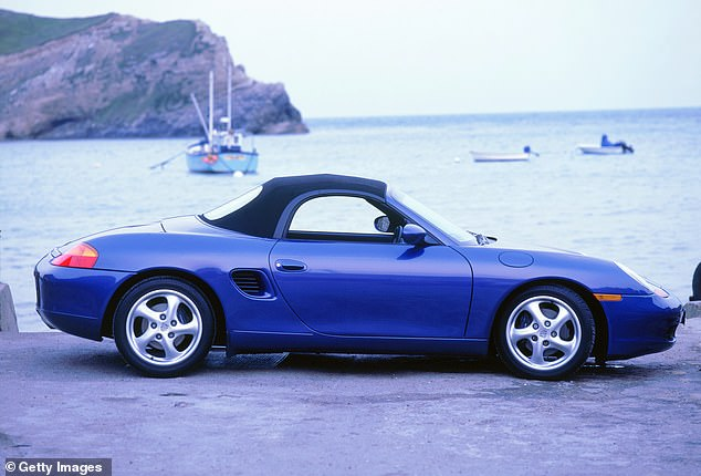 The1997 Porsche Boxter roadster (pictured) is a popular choice for many wealthy car enthusiasts (stock image)