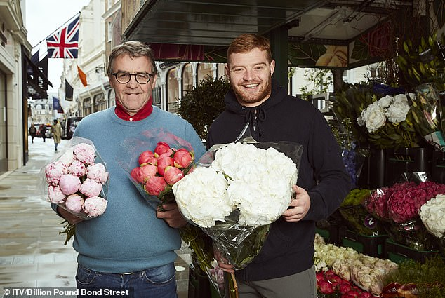 Pictured, father and son Pete and Pete Watkins own the flower stall at the top of Bond Street