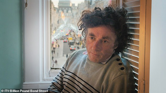 Ollie (pictured) can no longer use the old Bond Street entrance way to his flat – it was blocked off by the building's owners because, he says, the space behind it commands £150,000 a year in rent