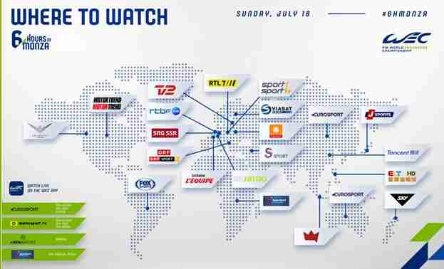 1 fiawec monza where to watch