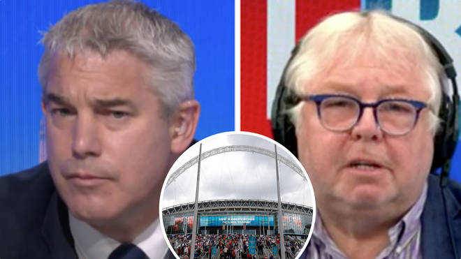 Steve Barclay told LBC the scenes at Wembley won't affect the World Cup bid