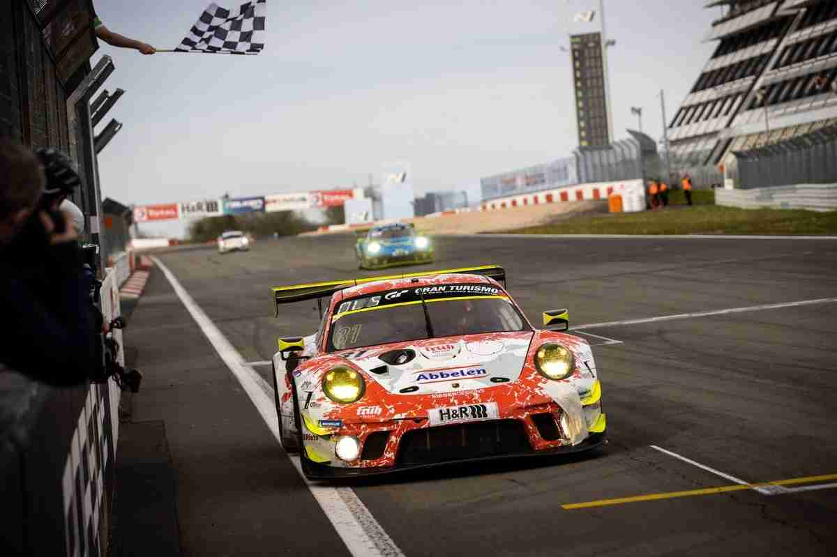 Frikadelli won this year's Nurburgring 24 qualifying race with the crew set to drive the #3 Porsche at Spa