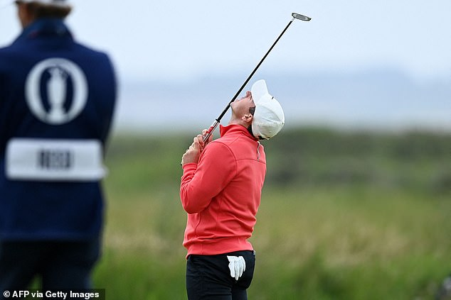 And the 32-year-old shot a nervy first nine holes at Sandwich, Kent on day one of The Open