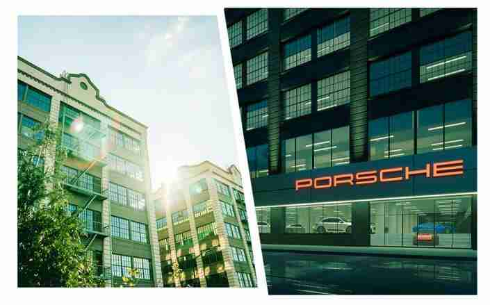 Porsche and Volvo sign leases at Industry City