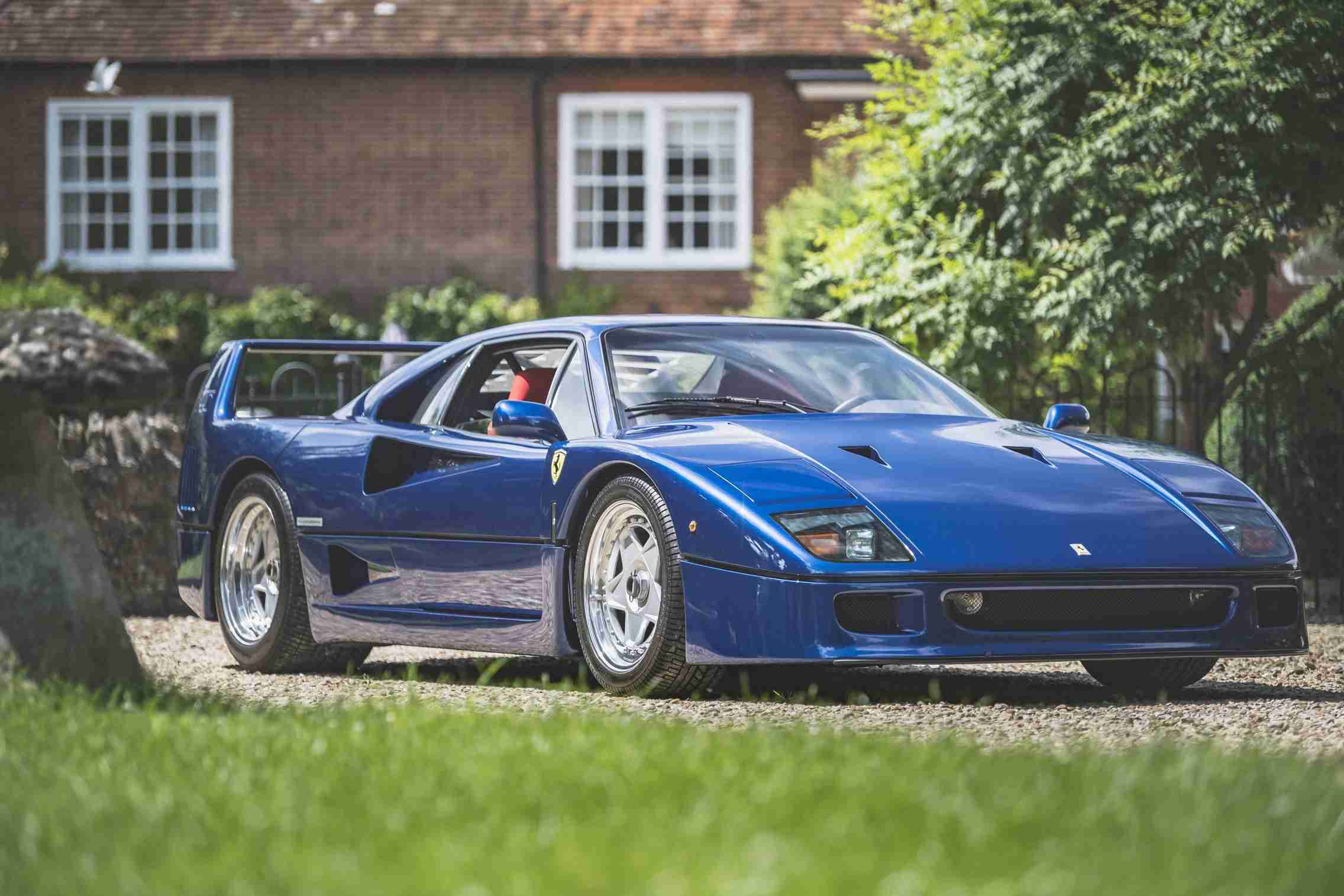 It is believed that nearly all Ferrari F40 models ever produced came finished in the marque's trademark red, making this vivid blue example just sold in the UK a first worldwide.