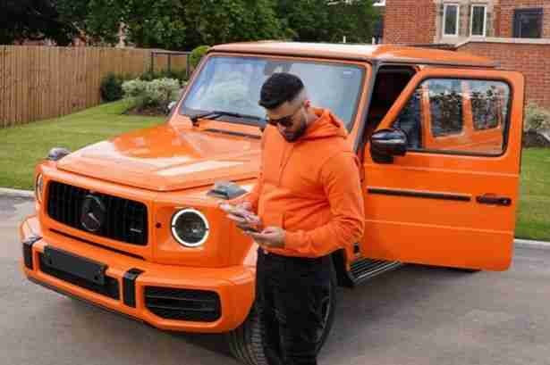 Abdul also owns another bright orange vehicle; a Mercedes G Wagon
