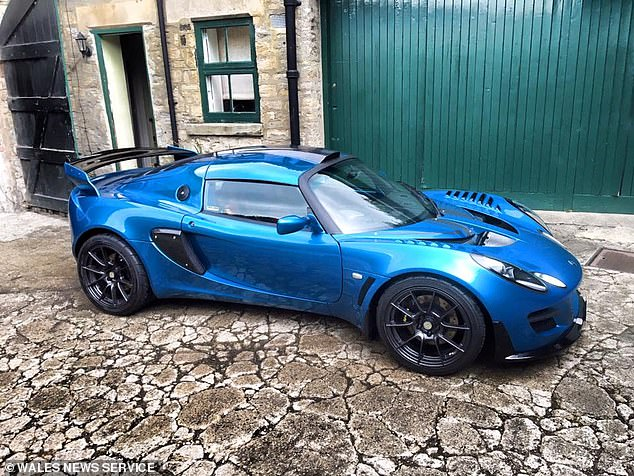Mr Richardson's partner Francesca Fowden said his car (pictured) was his 'pride and joy' and had spent around £70,000 modifying the car in the ten years he had owned it