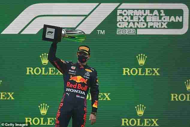 Max Verstappen was crowned the winner of the 2021 Belgian Grand Prix after a bizarre event