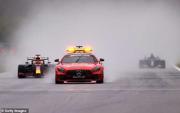 The race was declared active following just two laps behind the event's official safety car