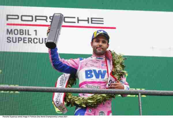Dylan Pereira wins the 300th Porsche Supercup race in wet Spa