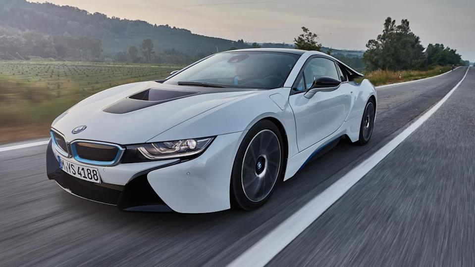 A 2017 BMW i8 on the road. - Credit: Photo: Courtesy BMW