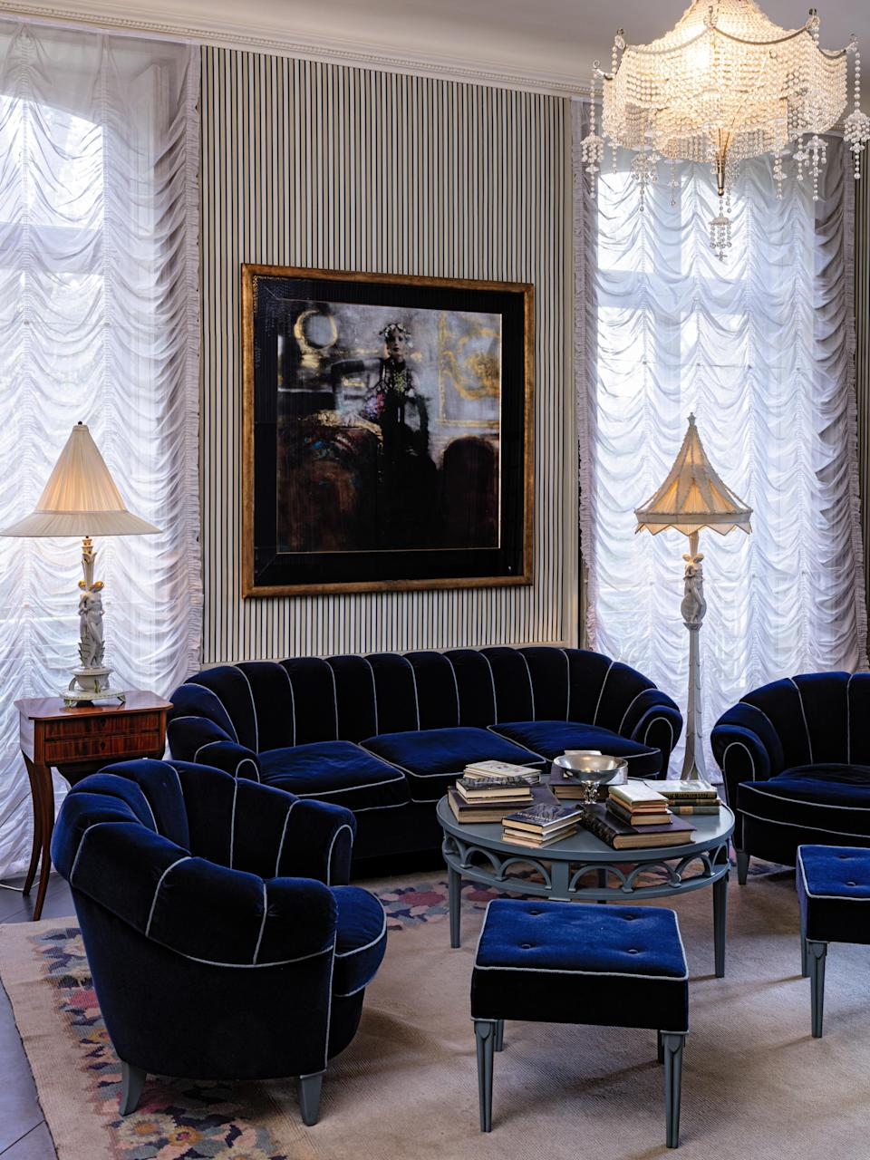 Karl Lagerfeld's most recent home was designed in a 1920s German style. - Credit: Courtesy