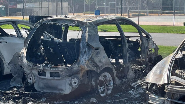 The Chevy Bolt after the battery fire.