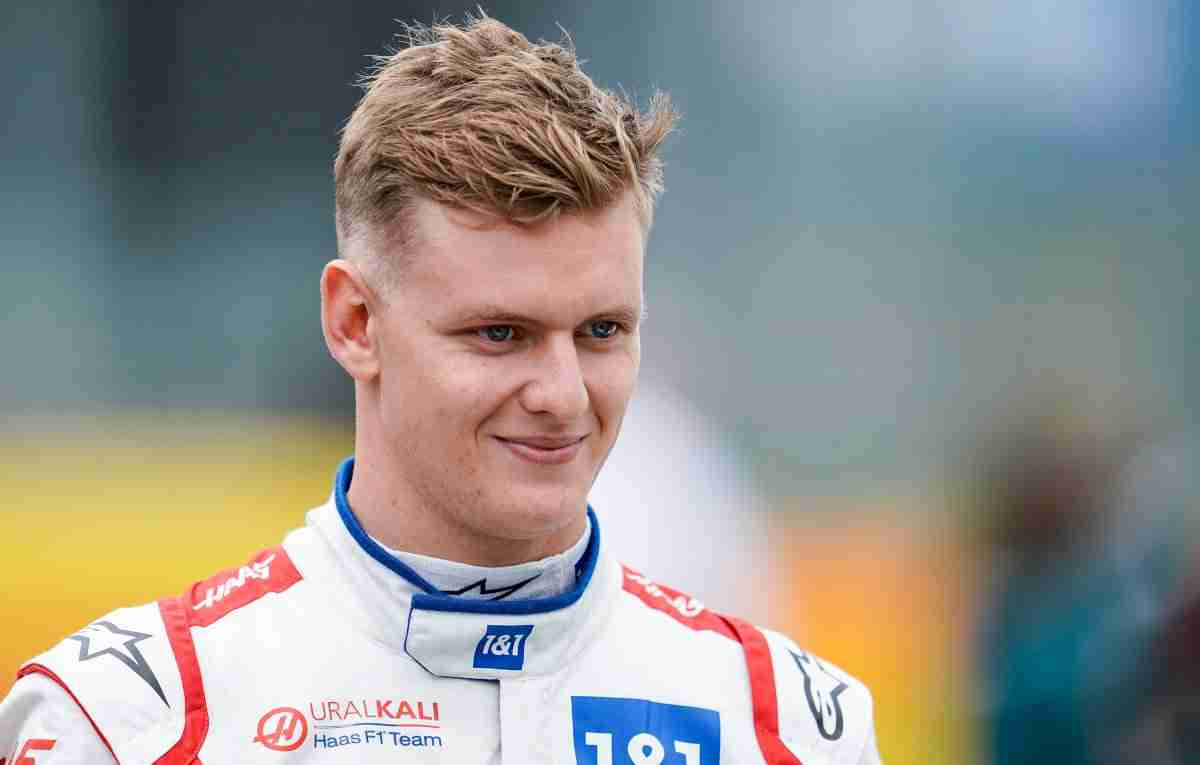 Mick Schumacher smiling grid. Hungary August 2021