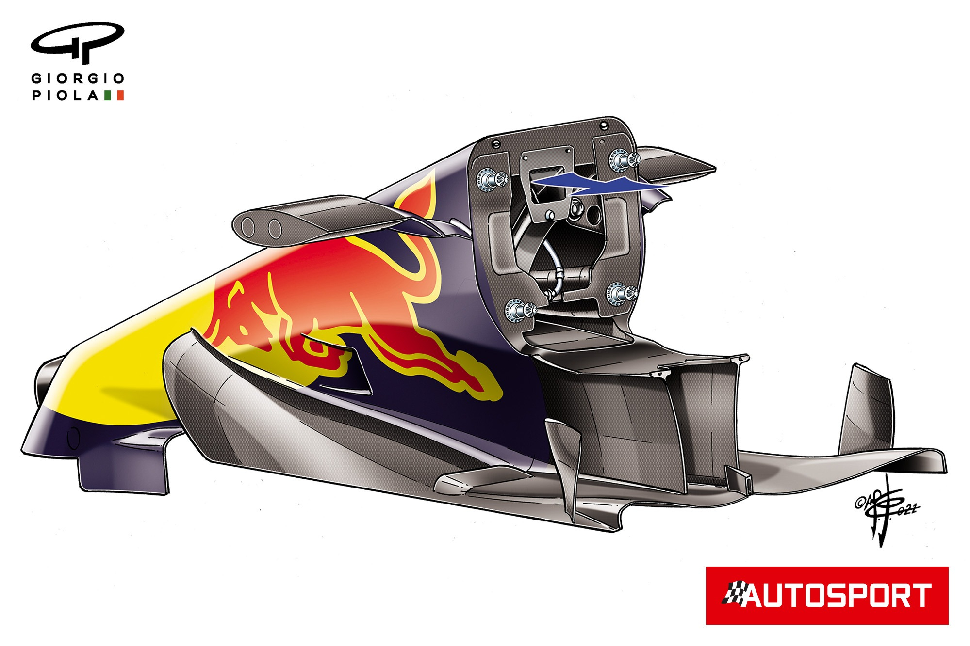 Red Bull RB16B's S-duct internals